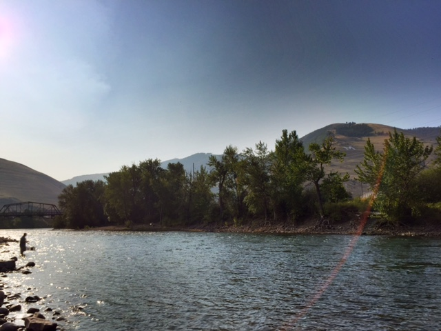 Your next fishing hole: the Clark Fork River right behind the DoubleTree Hotel.