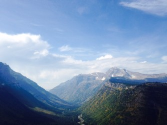 Looking down into the Lake McDonald Valley from the Going-to-the-Sun Road.