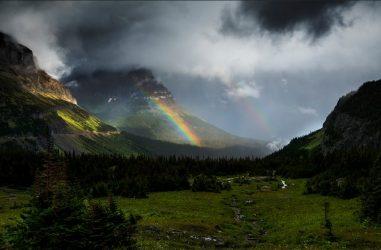 A rainbow near Logan Pass. Photo: NPS / Tim Rains