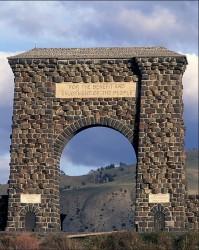 The Gardiner, Montana entrance into Yellowstone National Park.
