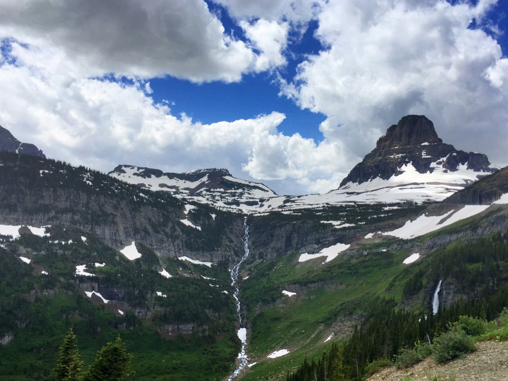 Looking toward Logan Pass.