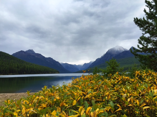 Fall at Bowman Lake.