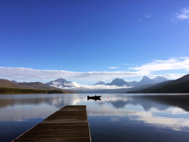 A perfect morning at Lake McDonald.