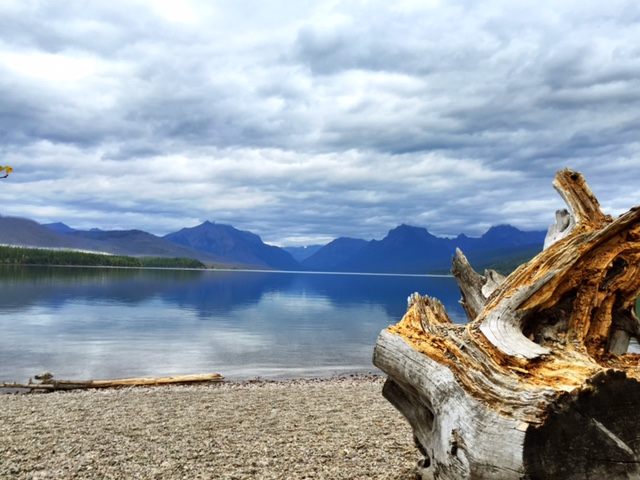 Our first stop: Lake McDonald.