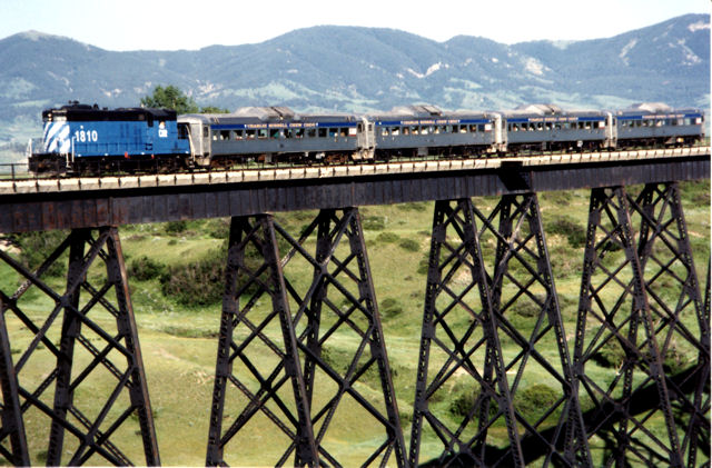 Crossing the Judith Trestle in Central Montana.