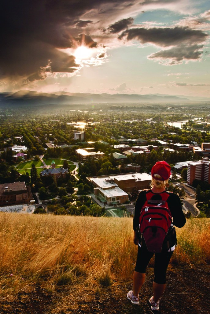 Taking in the view of the Missoula Valley.