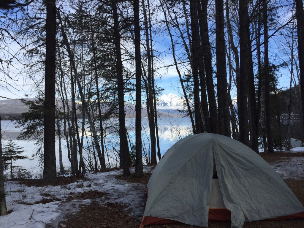 Winter camping in Apgar.