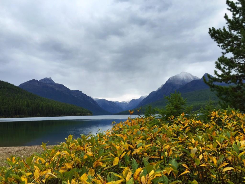 Fall at Bowman Lake in Glacier National Park's North Fork.