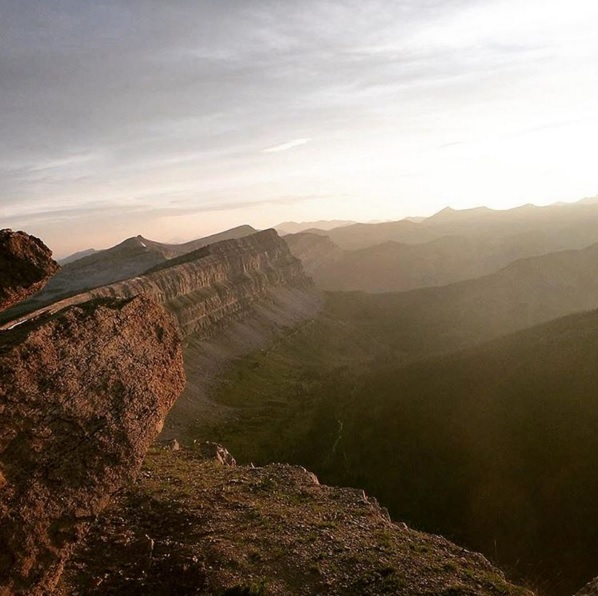 The Chinese Wall in Montana's Bob Marshall Wilderness. Photo: Teslie Mills