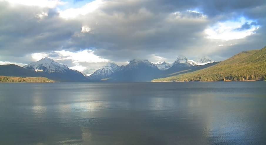 A peek at November 2015 from the Lake McDonald webcam.