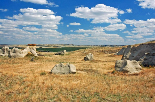 Montana's powerful wind carved these formations near Circle.