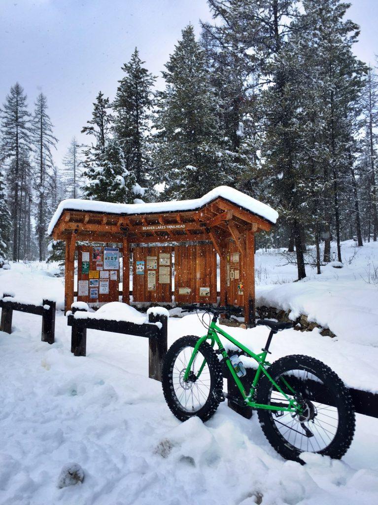 My bike at the trailhead.