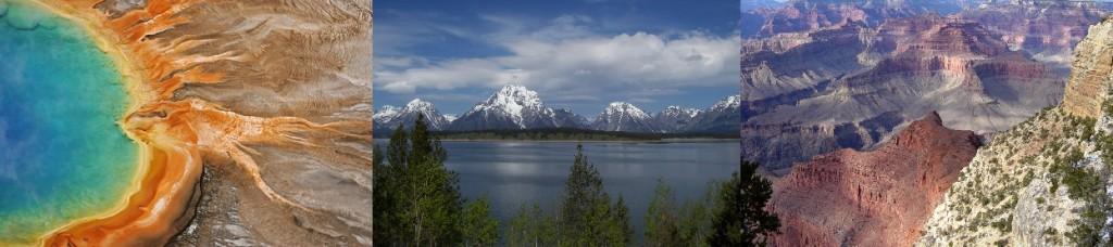 Yellowstone, Grand Teton and Grand Canyon national parks. Photo: NPS flickr