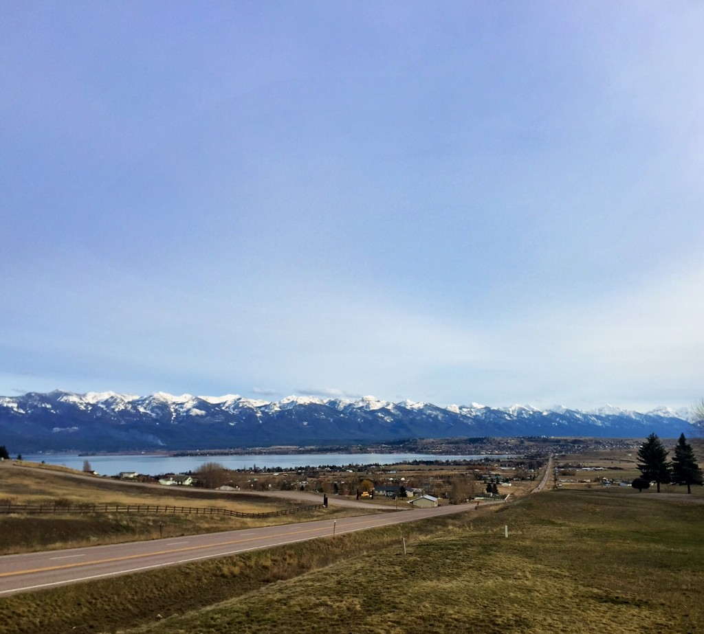 Polson, Flathead Lake and the Mission Mountains.