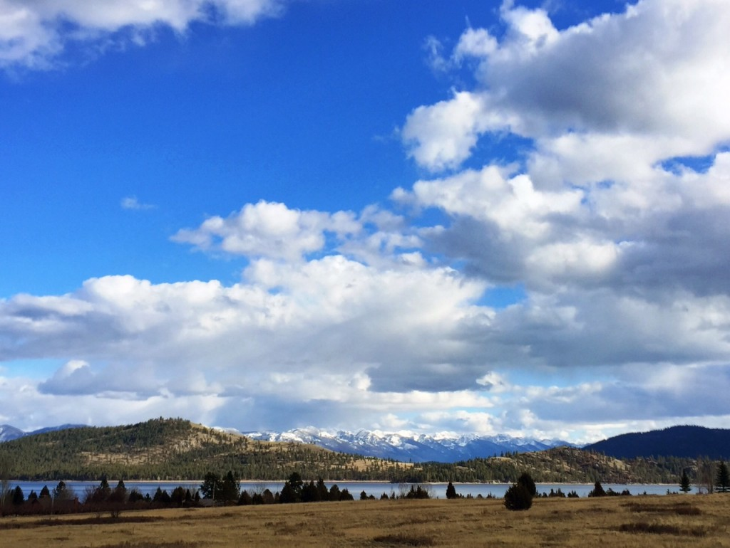 The view from Dayton, on the west shore of Flathead Lake.