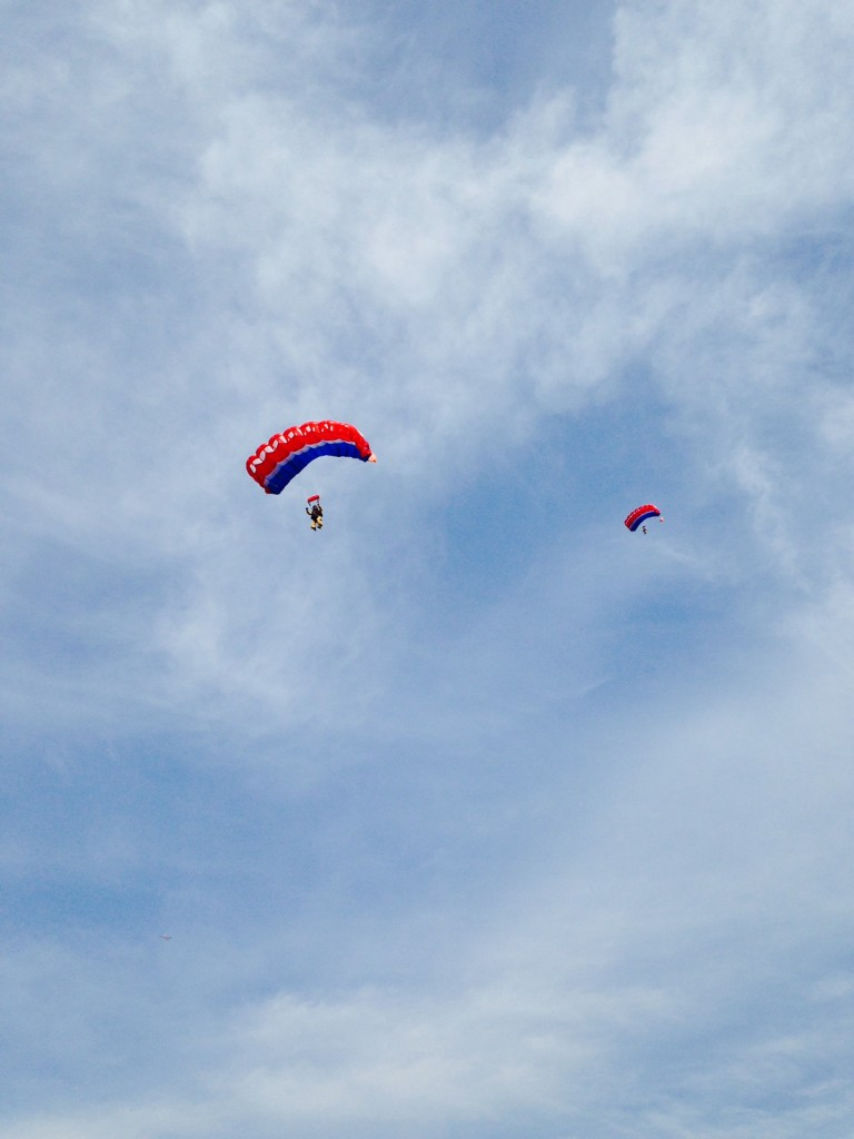 Smokejumpers practicing their jumps near Missoula.