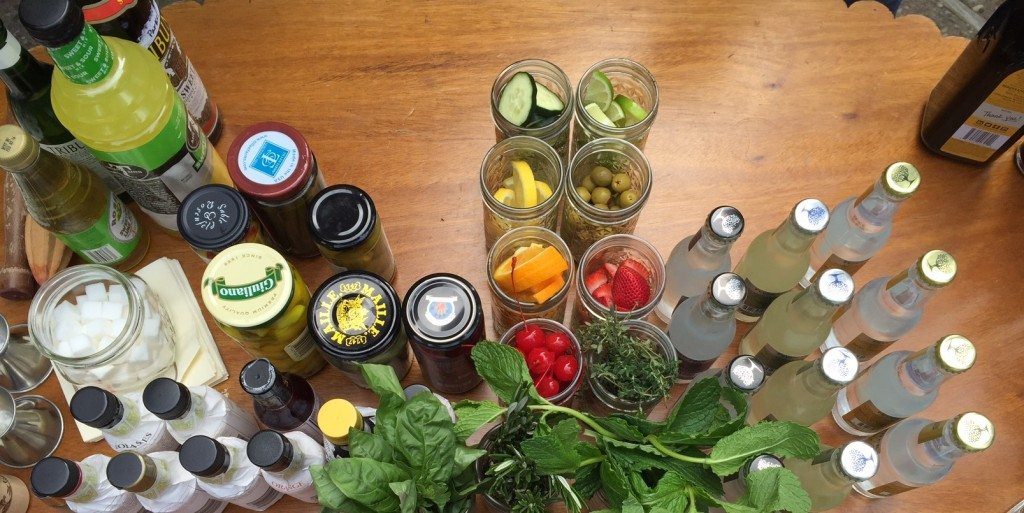 The makings for Montana-flavored cocktails.