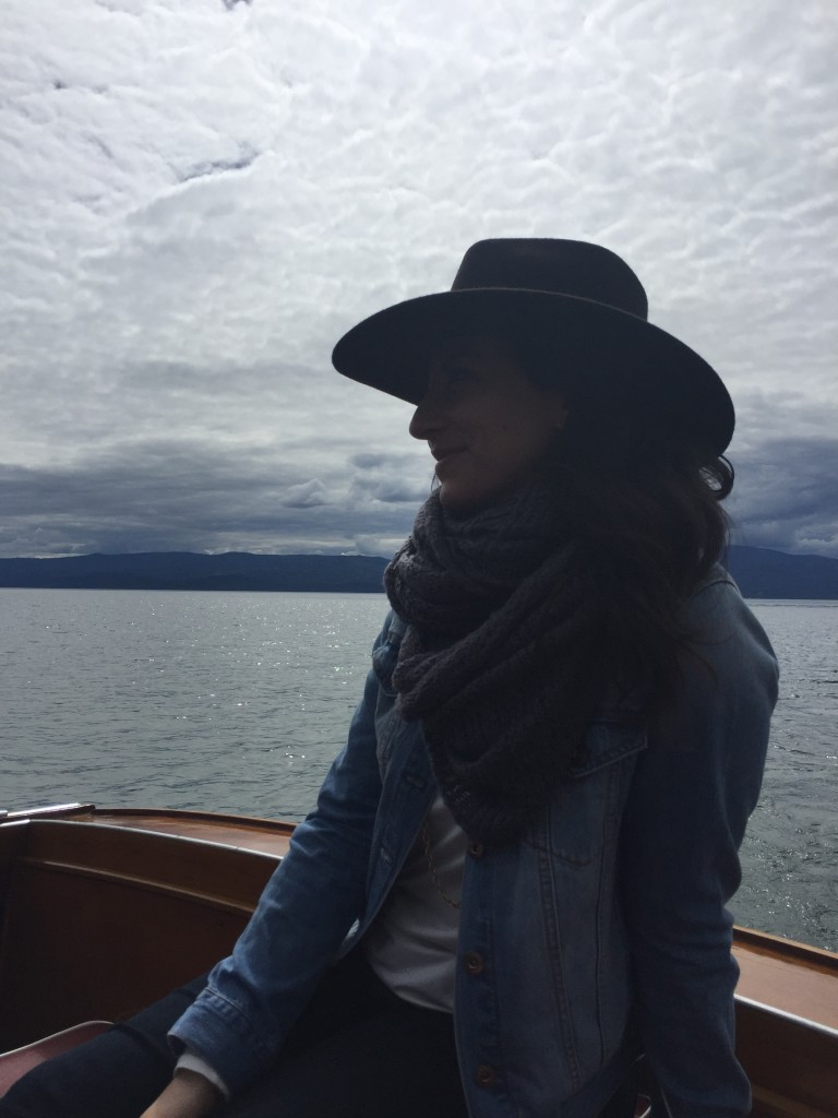 My (stunning) friend Kate taking in our time on the water.