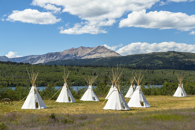 Blackfeet tipis. Photo: Glacier NPS Flickr/Jacob W. Frank
