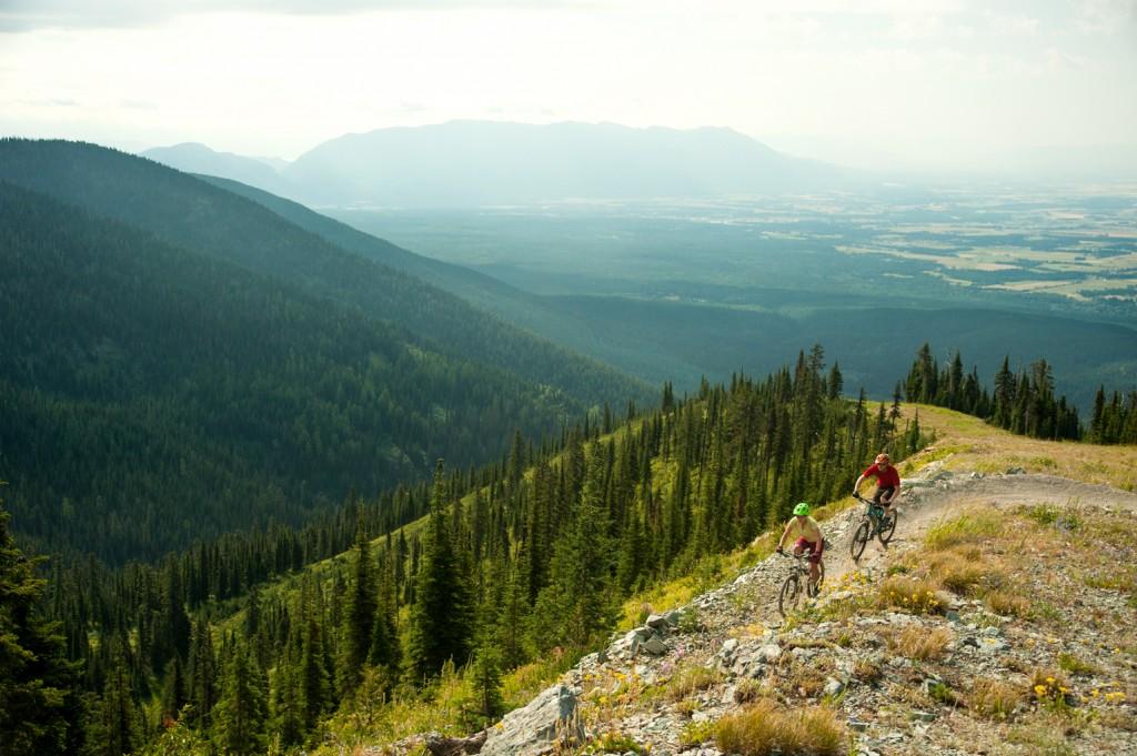 Biking the trails on Big Mountain.