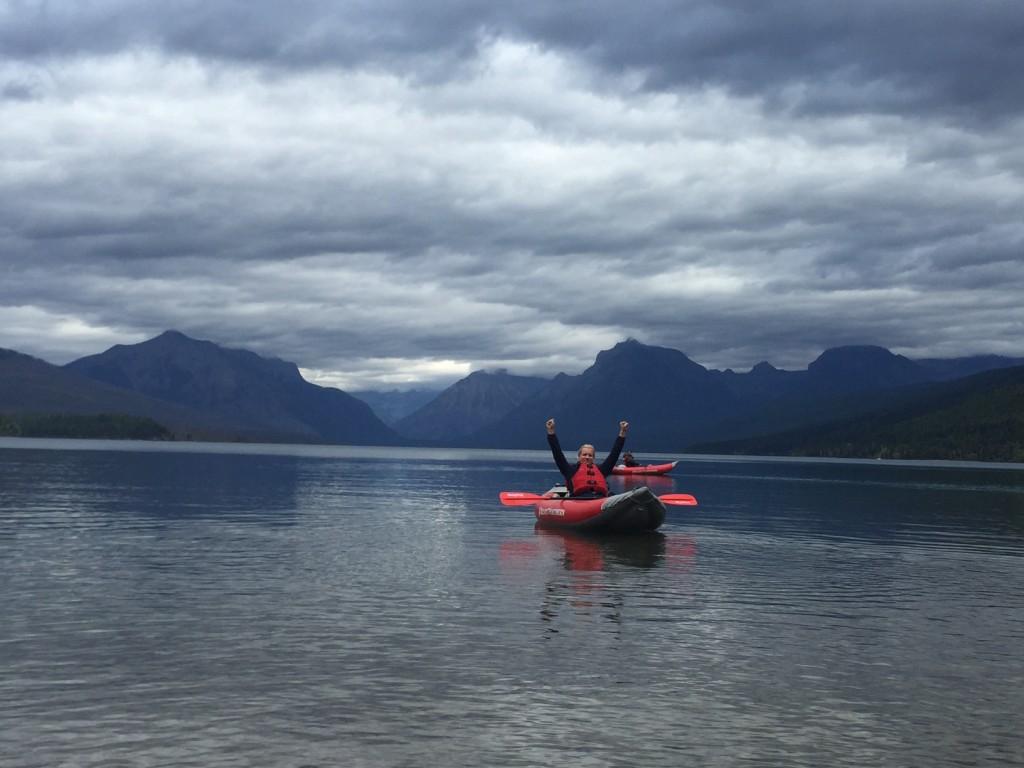 Kayaking on Lake McDonald.