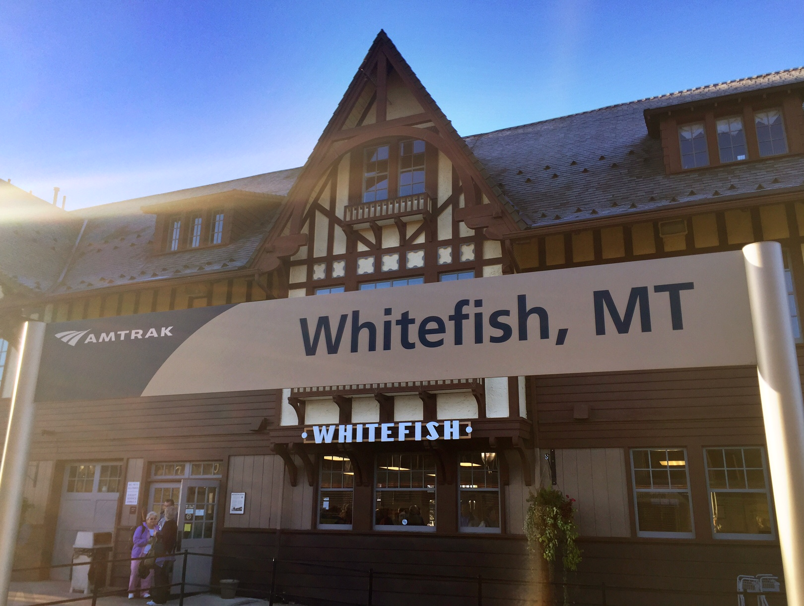 All aboard for montana a day trip on amtraks empire builder our starting point whitefish montana sciox Choice Image