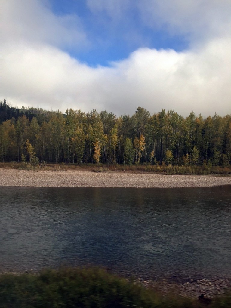 Fall colors were starting to arrive along the river.