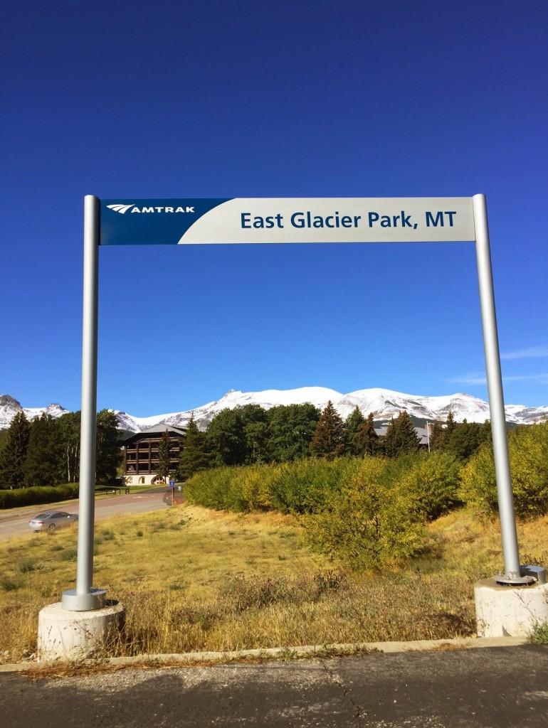 Arriving at our destination: East Glacier Park, Montana.
