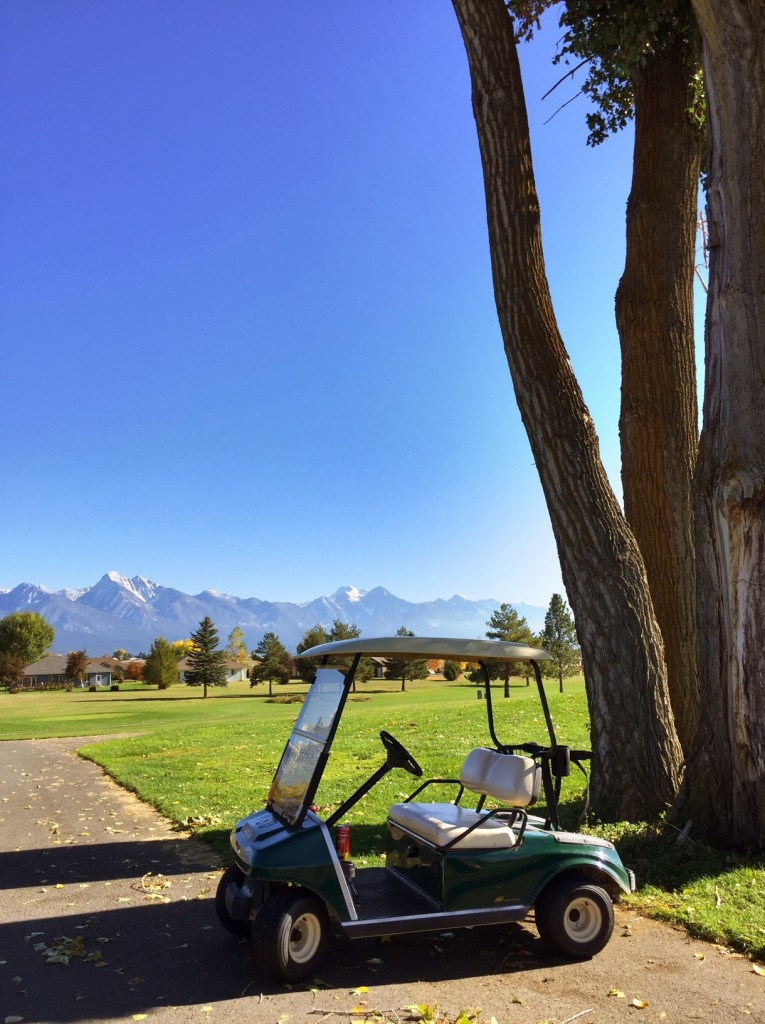 Playing 18 holes with this backdrop? Yes please.
