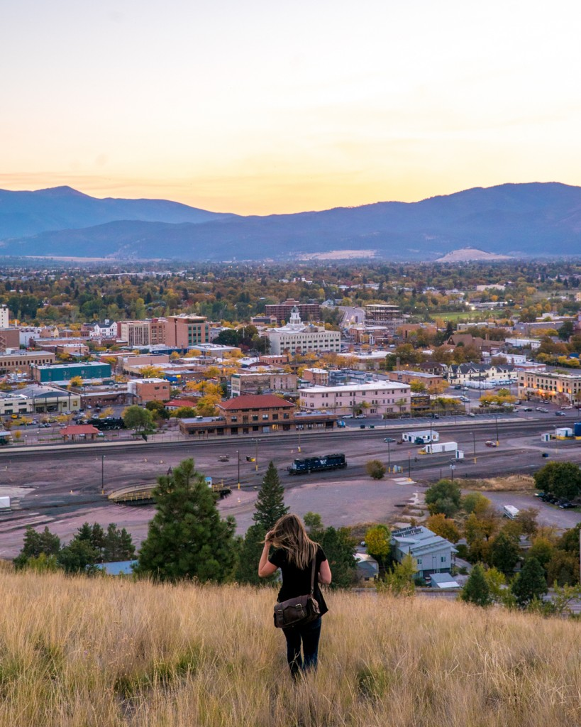 Soaking up Missoula's colors from Waterworks Hill.