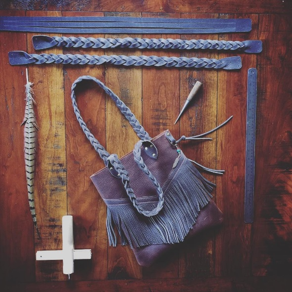 Mystery braids tote. Photo: T-Bird Leather