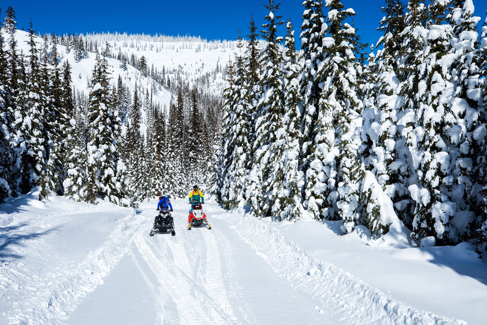8 Snowmobiling Trail Systems in Western Montana